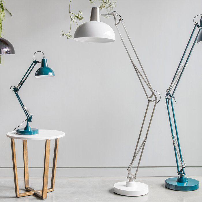 Kings Road 170cm Swing Arm Floor Lamp In 2019 Floor Lamp
