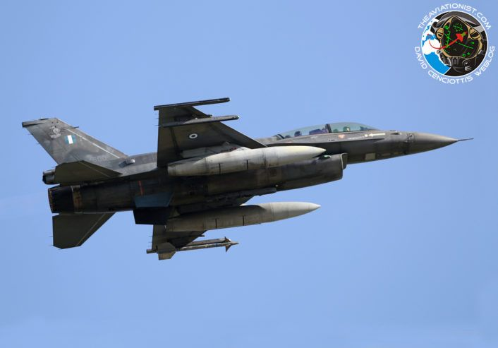 "The Aviationist » The Hellenic Air Force Has Retired Its Last RF-4E Phantom Jets. F-16D ""600"" of the 337 Mira."