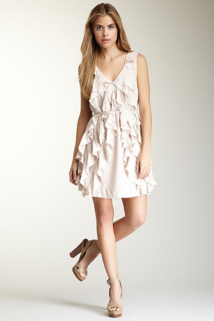 Papillon Big Ruffle Front Short Dress