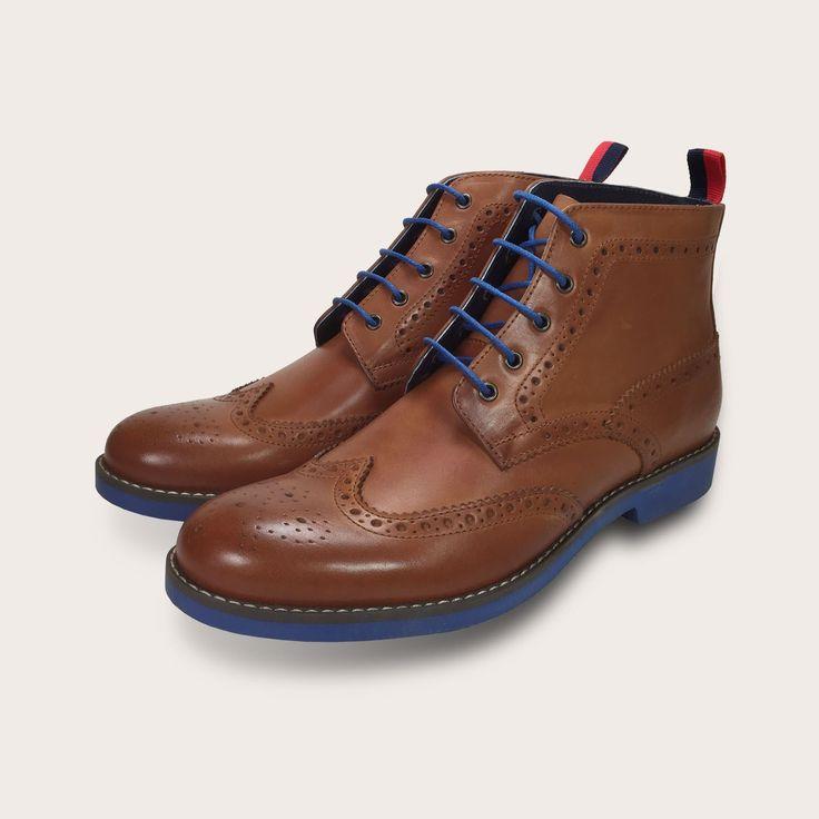Clapham ~ Tan  http://www.cooganlondon.com/clapham-mens-tan-brogue-boots.html