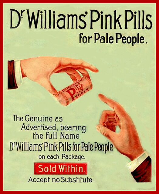Dr. Williams' Pink Pills for Pale People advertisement