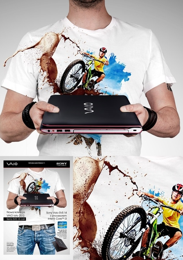 Sony Vaio (Summer 2012) by Agencja Kreatywna Pompidou , via Behance