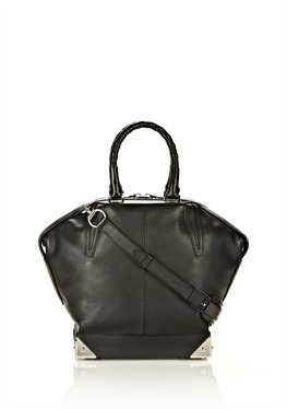 Small Emile In Pebbled Black With Rhodium