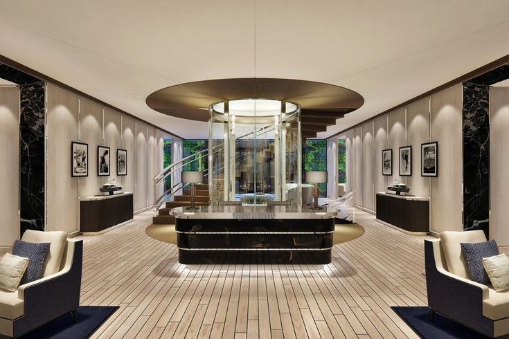 Yacht Club Concept March White Interior Design Business