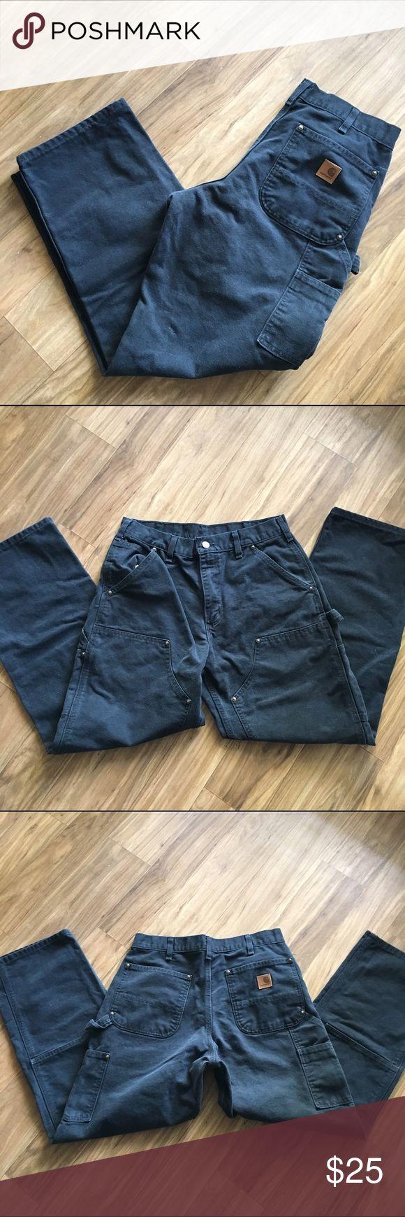 Carhartt work pants Faded black. Original dungaree fit. No holes. Carhartt Jeans