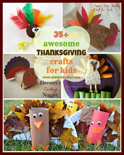 35+ awesome Thanksgiving crafts for kids - Kiddie Foodies