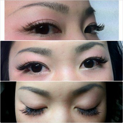 Asian Or Hooded Eye Lash Extensions Fashion