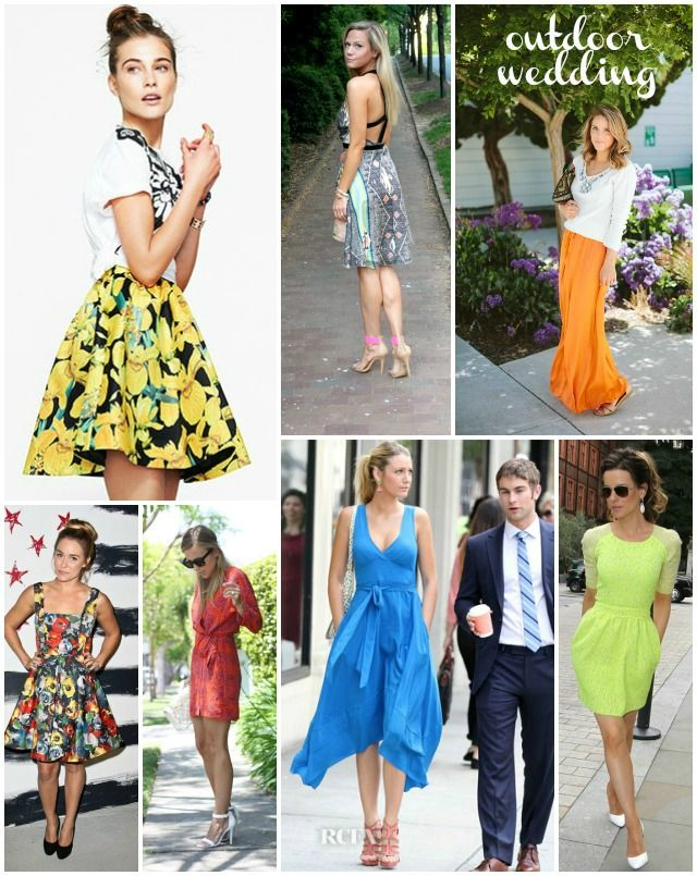 inspiration shopping for an outdoor wedding