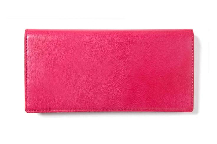 Feng Shui Lucky Wallet☆生年月日でわかるあなたに必要な風水開運財布  Goat skin(fuchsia pink×light pink)