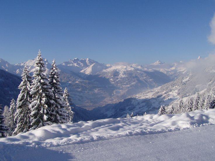 Winterimpression vom Panoramablick vom Kristberg www.kristberg.at