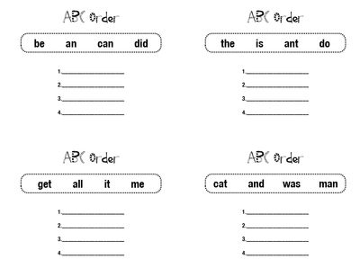 ABC Order Station Pages From FirstGradeBlueSkies On TeachersNotebook