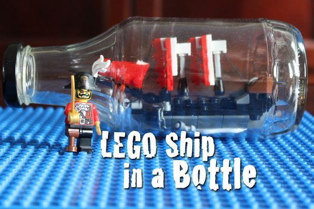 How To Make A LEGO Ship In A Bottle #diy #boat #ship