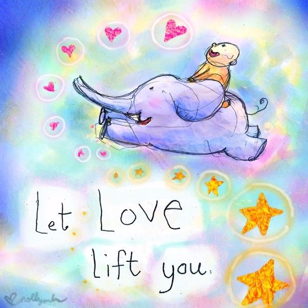 let love lift you (today's doodle}