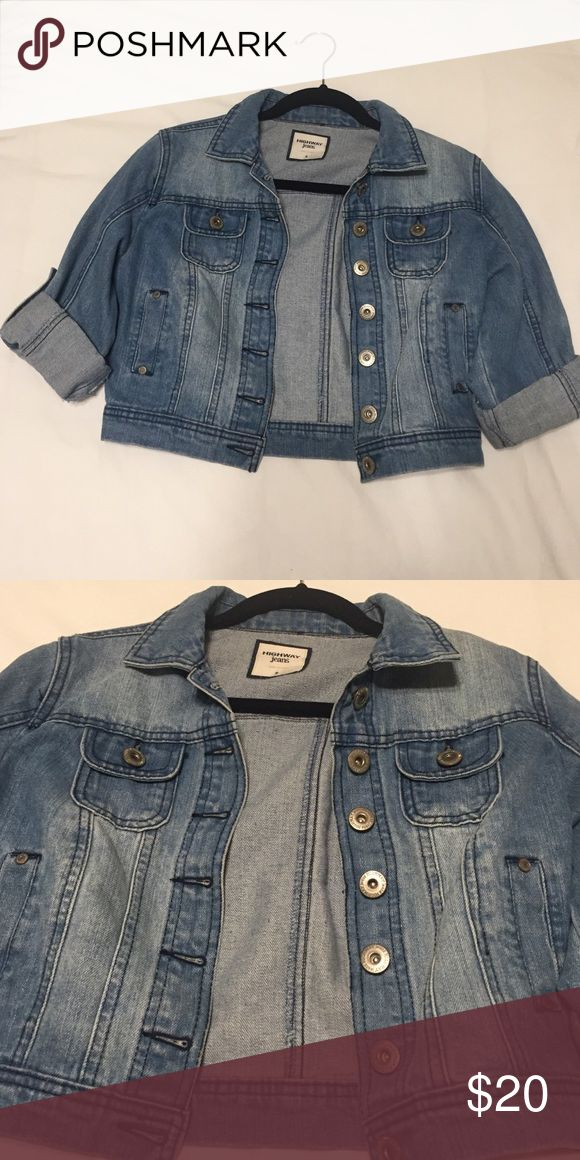 Short sleeved jean jacket cute jean jacket with short sleeves; Feel free to make other offers!! 😊 Highway Jeans Sweaters