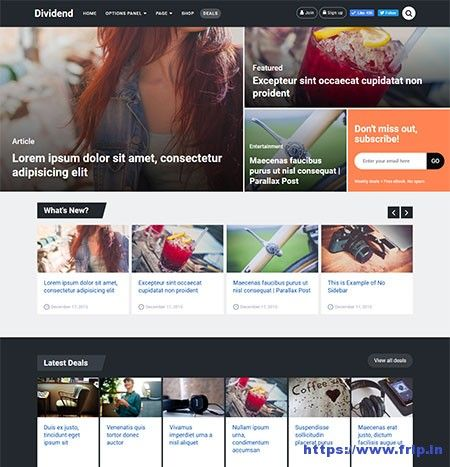 New Theme: Dividend Magazine WordPress Theme By Mythemeshop  Link: https://www.frip.in/dividend-magazine-wordpress-theme/
