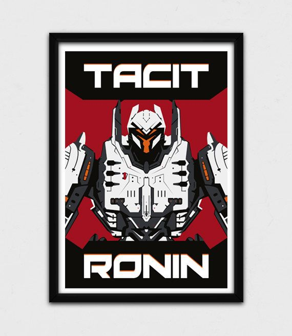 Pacific Rim  Tacit Ronin Poster  Jaeger by JohnTakacsDesign https://www.etsy.com/listing/224193858/pacific-rim-tacit-ronin-poster-jaeger