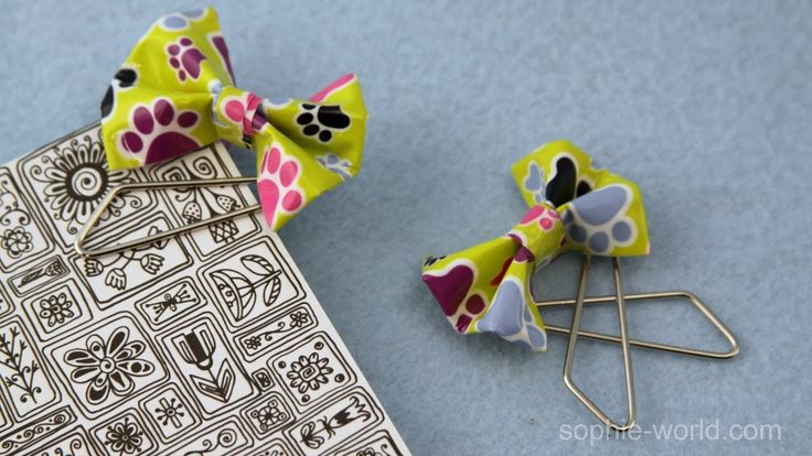 Bow bookmarks made with duct tape inspired by Madame Umbridge! #ducttape #harrypotter #bows