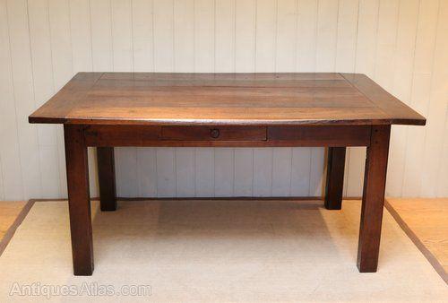 French Dark Cherry Wood Farmhouse Table Rustic Farmhouse Table Farmhouse Table Table