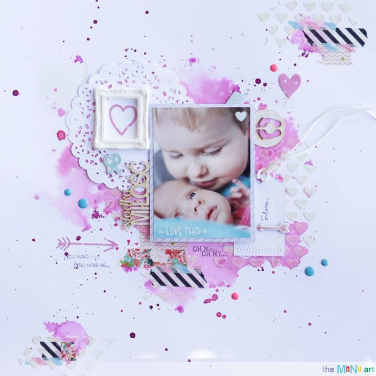 #theMiNiart #baby #kids #scrap