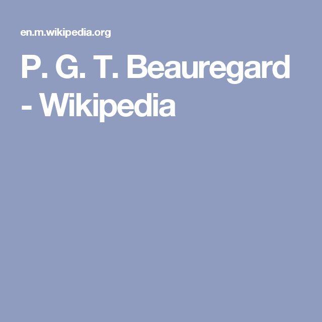 P. G. T. Beauregard - Wikipedia
