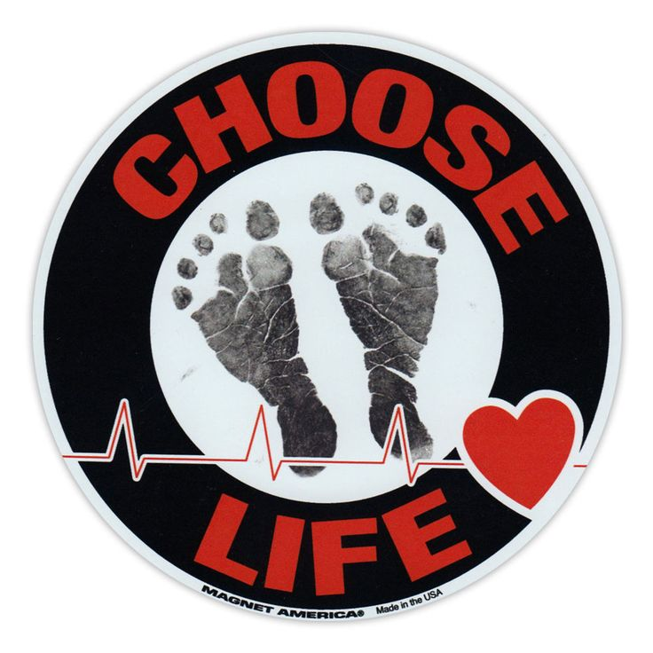 Round Magnet - Choose Life - Anti Abortion Pro Life - Magnetic Bumper Sticker #CrazyStickerGuy