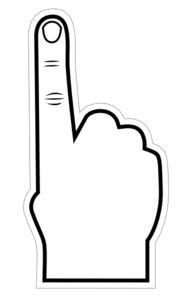 Foam Finger Clip Art