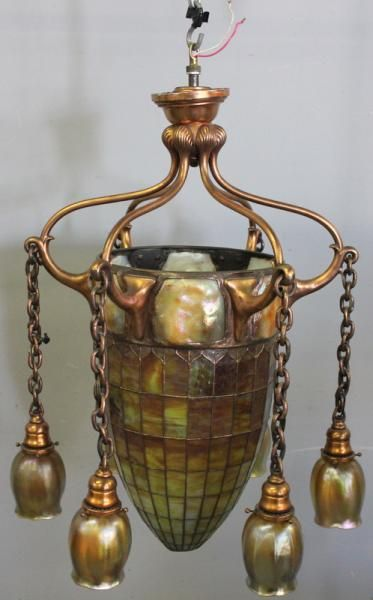 Chpt 16: Aesthetic Movement - Louis Comfort Tiffany Chandelier