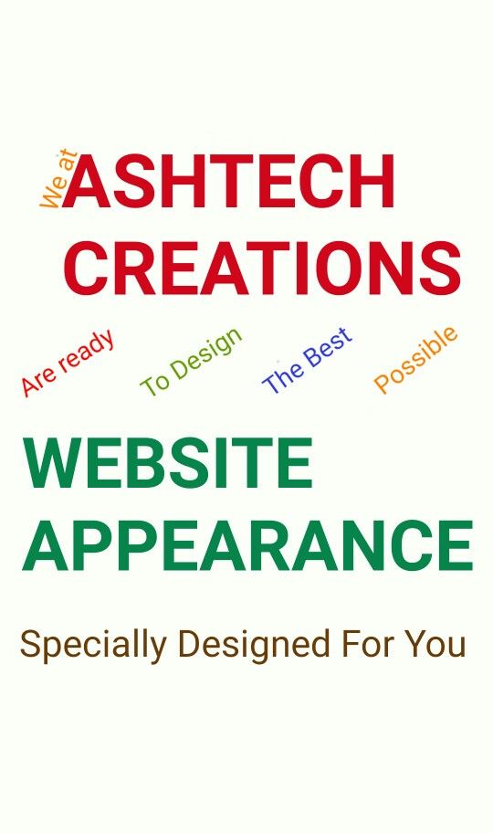 Visit www.ashtechcreations.com for more information