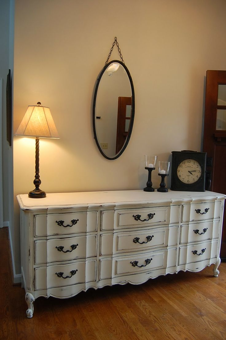 Vintage French Provincial Dresser Painted In Annie Sloan