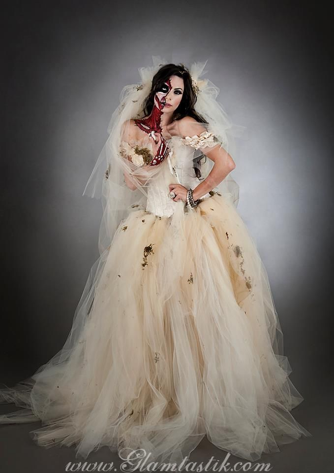 Zombie Wedding Dress For  : Wedding dress zombie bride costume