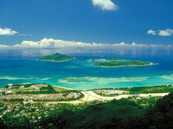 Seychelles, Africa- I always think of deserts/safaris when I hear Africa- obviously they have beautiful islands too!