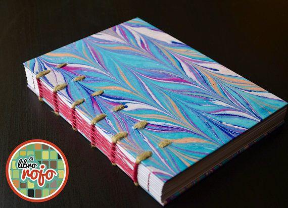 Maravillosa libreta hecha a mano con costura pack and weave