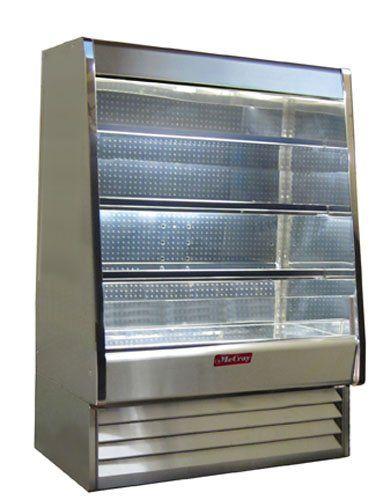 Open Merchandiser Dairy Refrigeration Stainless Steel Exterior Interior Size 72 X 30 X 39