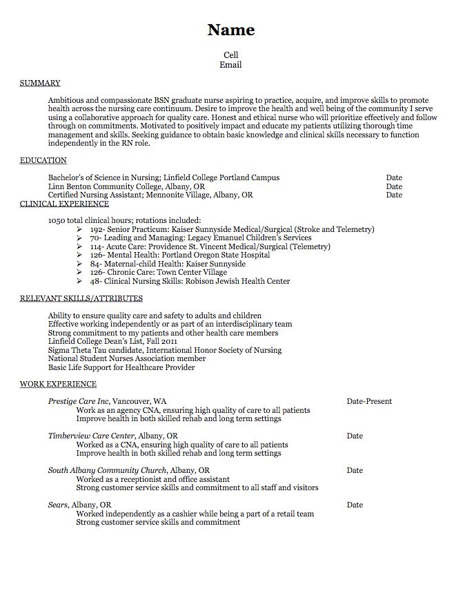 Cna Sample Resumes Projects Ideas How To Make A Resume With No Experience 5  Resume For