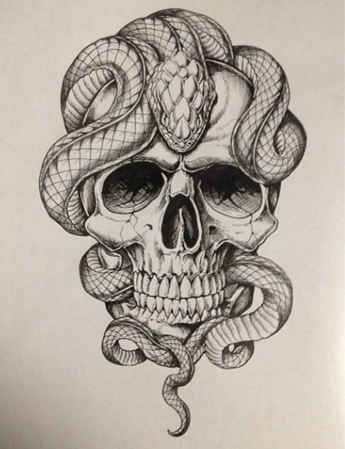 Affliction Artwork Affliction skull and snake