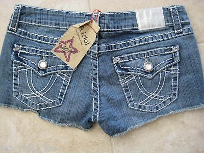 L.A. IDOL★MEGA BLiNg JEAN SHoRtS★SeXy Me★DISTRESSED THICK STITCHING★NWT★S