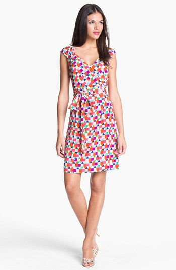 kate spade new york 'cathleen' silk wrap dress available at #Nordstrom
