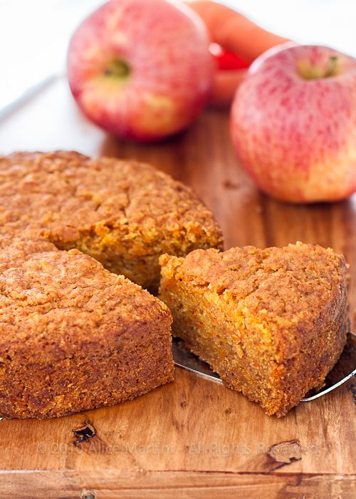 Apple, carrot & hazelnut cake (vegan).