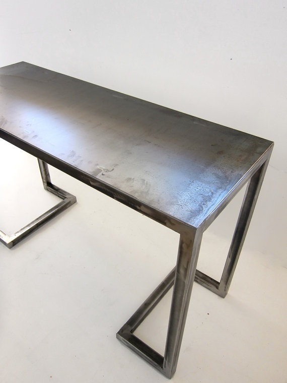 Console Tables With Picture Frames ~ Alexander desk console all metal frame table or