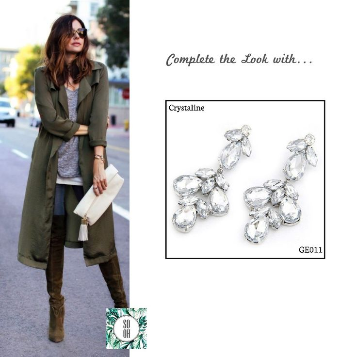 Ref: GE011 Crystaline Medidas: 6.6 cm x 2.8 cm So Oh: 7.99  #sooh_store #onlinestore #brincos #earrings #fashion #shoponline #inspiration #styleinspiration #aw2016 #aw1617 #winter #style