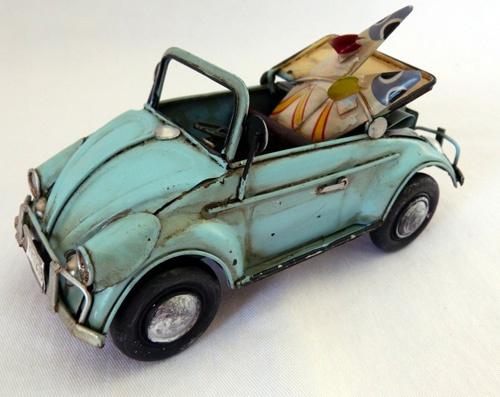 Convertible Vw Bug >> Vintage Metal Blue Green Vw Bug Convertible Car with Surfboards - Surfing… | Ellen | Pinterest ...