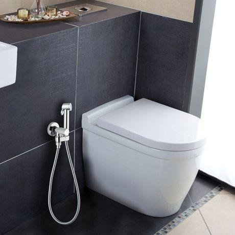 Ensemble mural douchette WC et robinet d'arrêt PALOMA E57006.030 Bossini