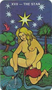 XVII Star tarot card meanings: Hope, Promise, Healing, Guidance, Cleansing, Assurance, Ascencion, Rejuvination