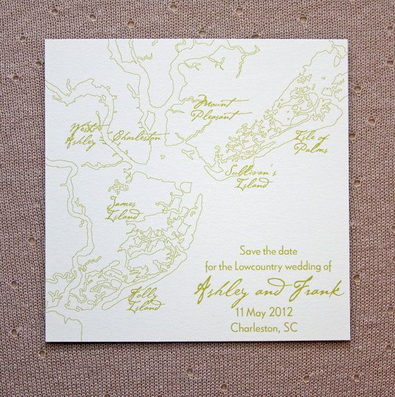 Charleston Map Save the Date by ScottiClineDesigns on Etsy, $50.00