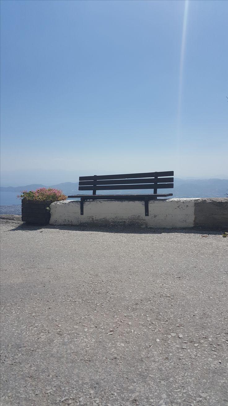 Makrinitsa in Pilion, een dorpje op de heuvel gelegen waarbij je met een flinke klim op een van de mooiste plekjes uitkomt
