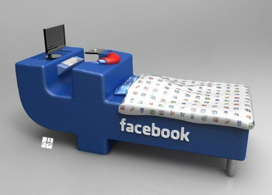 Yup, it's a Facebook Bed! Need one of these...