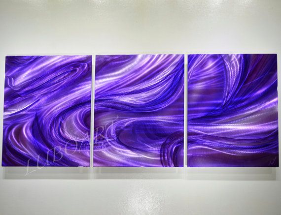Long contemporary wall decor new sculpture purple music by luboart, $320.00
