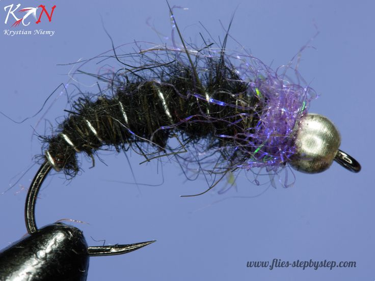 Black & Silver nymph - How to tie fly, Fly tying Step by Step Patterns & Tutorials