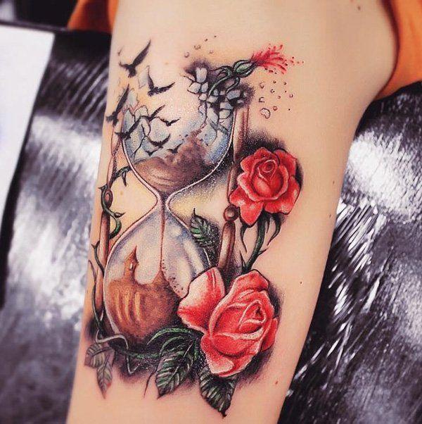60 Sanduhr Tattoo Ideen