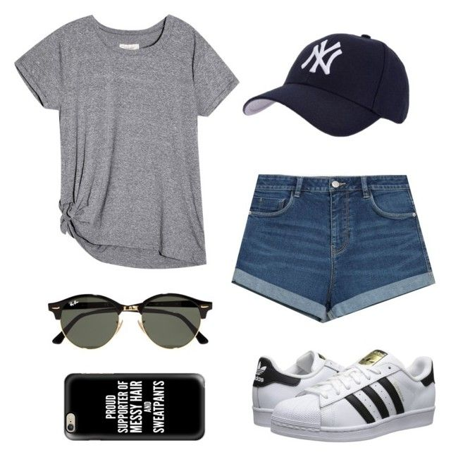 """Baseball game outfit⚾️"" by talyorsmtith ❤ liked on Polyvore featuring Hartford, Zara, adidas Originals, Ray-Ban and Casetify"